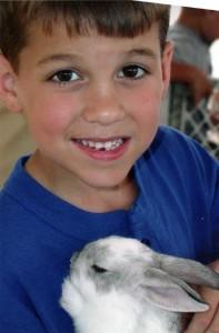 boy and bunny